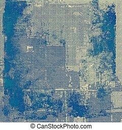떼어내다, retro, 디자인, composition., 유행, grunge, 배경., 와, 다른, 색, patterns:, 황색, (beige);, blue;, cyan;, 회색