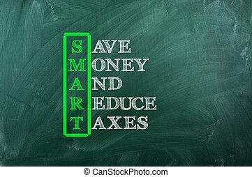 똑똑한, 세금