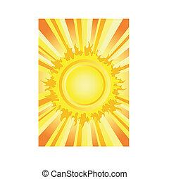 뜨거운, 여름, 태양