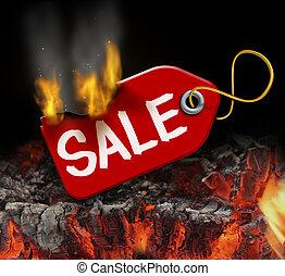 뜨거운, 판매