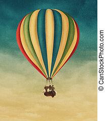 뜨거운, balloon, 공기