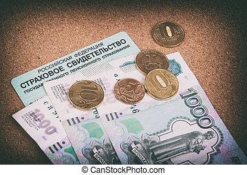 러시아어, 돈, 연금, 증명서