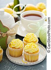 레몬, 컵케이크, 부활절
