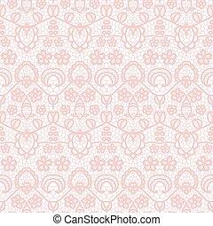 레이스, seamless, 패턴, 와, 꽃