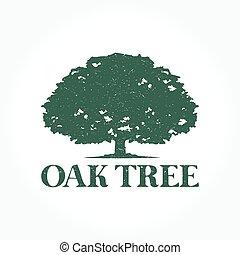 로고, 나무, 오크
