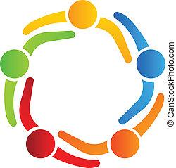로고, 5, 디자인, 비즈니스 파트너