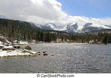 로키 산맥, 호수, 와..., 은 뾰족해진다