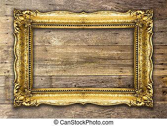 리바이벌 회복, 늙은, 금, 액자