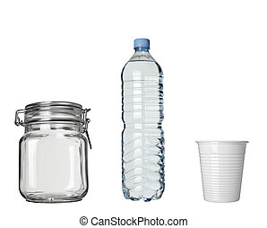 마실 것, lar, 플라스틱 병, 컵, 커피 마실 것