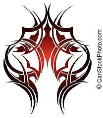 마오리 사람, 종족의, 문신