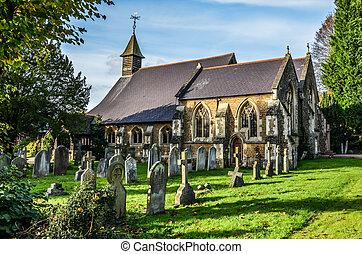 마을, 교회, millford, 에서, 서리