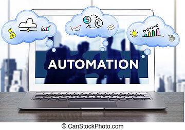 마케팅, strategy., 계획, 전략, concept., 사업, 기술, 인터넷, 와..., 네트워킹, concept., 오토메이션