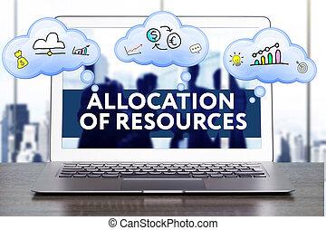 마케팅, strategy., 계획, 전략, concept., 사업, 기술, 인터넷, 와..., 네트워킹, concept., allocation, 의, 자원