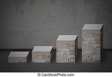 막대 그래프, 만든, 에서, 돌