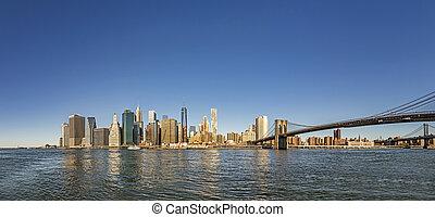 만하탄 지평선, 보는, 에서, 부루클린, 쪽
