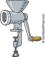 만화, 고기 저미는 기계