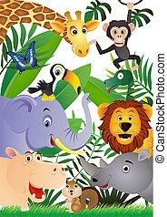 만화, 동물
