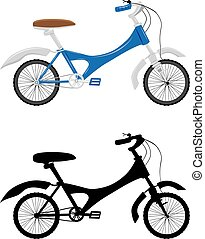 만화, 자전거, 삽화