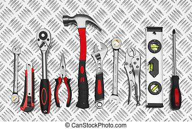 많은, 도구