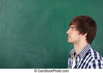 말레 교사, 생각, 안에서 향하고 있어라, 칠판