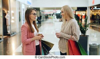 말하는 것, 은 자루에 넣는다, 쇼핑, 남자가 멋을 낸, 간담, 생활 양식, concept., 소녀, 젊음...
