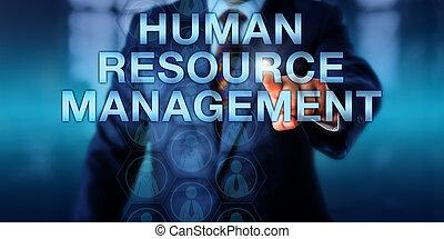 매니저, 압착하기, 인간, 자원, 관리