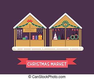 매점, 크리스마스, 시장