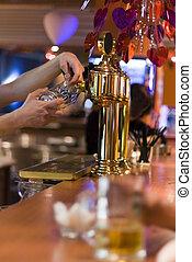 맥주, 에서, 그만큼, 유행, 밤, 막대기