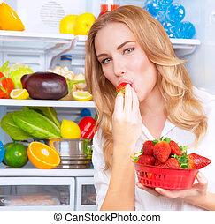 먹다, 맛좋은, 딸기