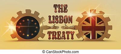 멋진, 은유, relationships., 결합, brexit, 영국, european