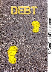 메시지, 빚, 보도, 발소리, 황색, 쪽으로