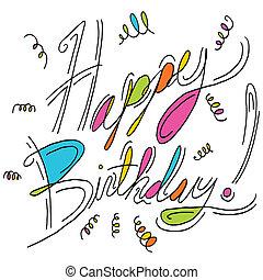메시지, 생일, 행복하다