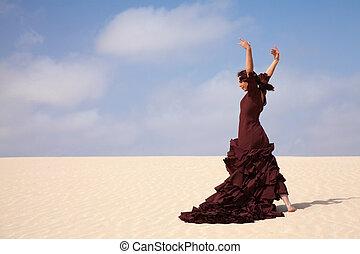 모래 언덕, 플라멩코