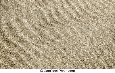 모래, 파도