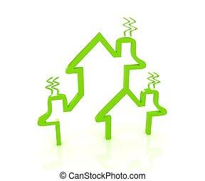 모아두다, 에너지, 집, 개념