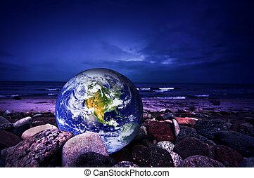 모아두다, 지구