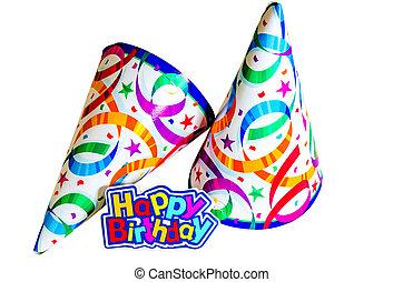 모자, 생일, 행복하다