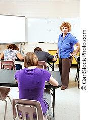 목적, 테스트, 에서, 고등학교