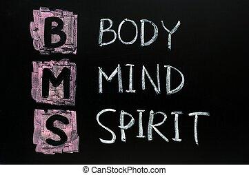 몸, 와..., 정신, 개념