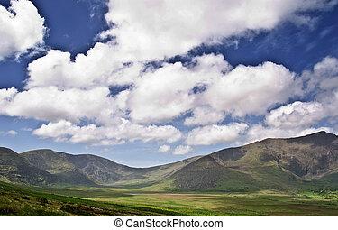 무대의, 성격 조경, 사진술, 시골, 자연, 아일랜드