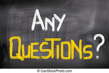무엇이든지, 질문, 개념