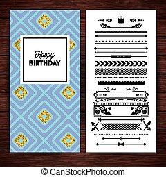 문방구, 행복하다, 국경, 생일, 아이콘