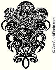 문신, design., 문신, 종족의, 벡터, design., 예술, 종족의, 문신