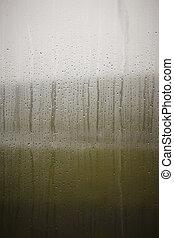 물가꾸기용 유리 용기, drops., 서리로 덥는