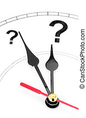 물음표, 시계