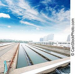 물, 시설, 청소, 옥외