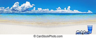 물, 열대 바닷가, 구두, 유리