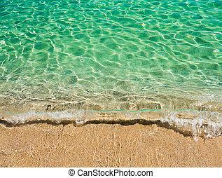 물, 청록색의, sardinian, 밝다, 바다