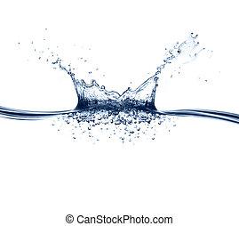 물, 튀김