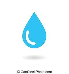 물, drop., icon., 벡터